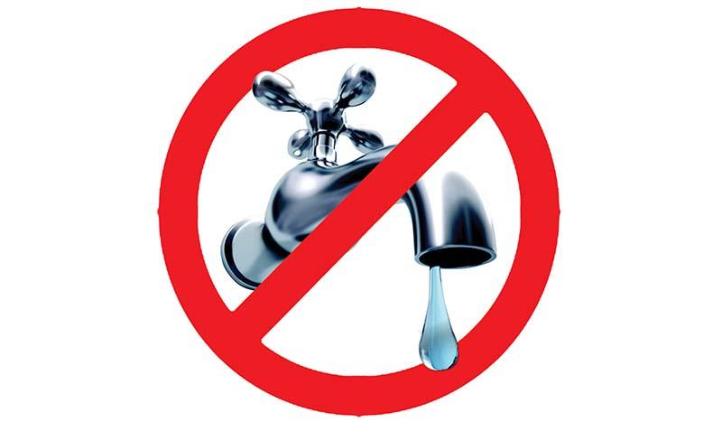 interruzione fornitura idrica - immagine rubinetto tagliato