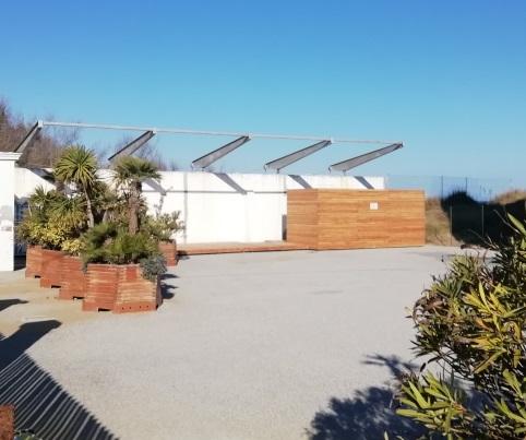 Allestimento degli spazi esterni del Faro di Bibione