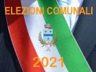Logo delle Elezioni Amministrative Comunali del 3 e 4 ottobre 2021 con stemma comunale e fascia tricolore del sindaco