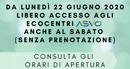 Ecocentro ASVO_ACCESSO DAL 22 GIUGNO 2020