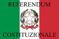Logo del Referendum costituzionale con bandiera e stemma della Repubblica Italiana