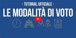 Logo del Video-tutorial ufficiale del Ministero dell'Interno relativo alle MODALITA' di VOTO