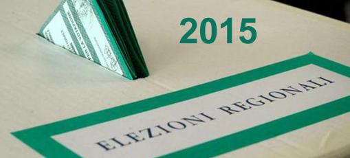 Logo delle Elezioni Regionali 2015 con urna elettorale