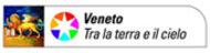 """Logo del portale di promozione turistica del Veneto con la dicitura """"Veneto tra la terra e il cielo"""""""