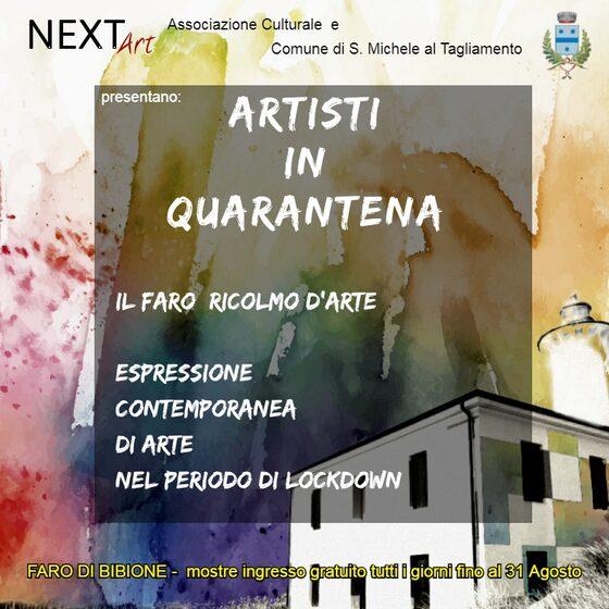 "Locandina mostra ""Artisti in Quarantena"""